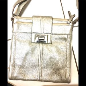 Leather silver crossbody